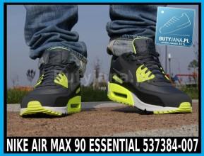 Buty Nike Air Max 90 Essential 537384-007 czarno żółte neon 1