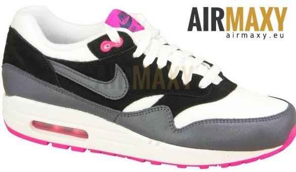 damskie buty nike air max 1 czarne białe różowe szare