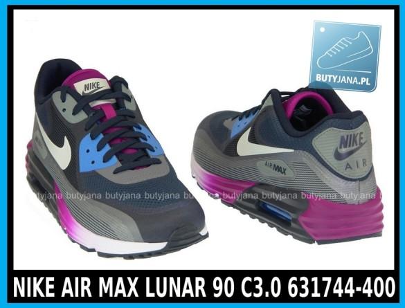 para butów Nike Air Max Lunar90 631744-400 granatowo czarno różowe